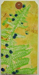 Fern gelatin print by Linda Germain