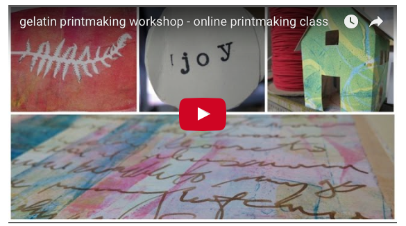 click for video summary of the Gelatin Printmaking Workshop