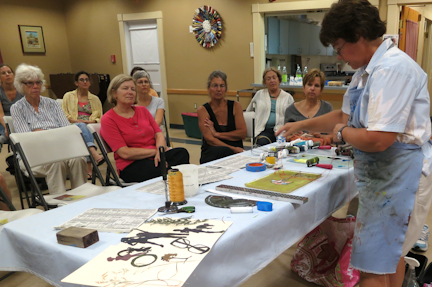 hire linda germain to speak about gelatin printmaking