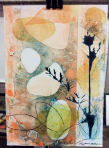 Monotype print by linda germain
