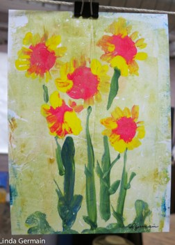 painted monotype by linda germain