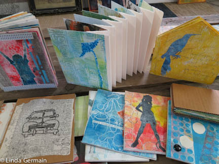 Use gelatin monotypes to make artists books