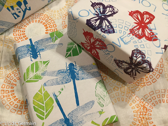 Screen printed Gift wrap