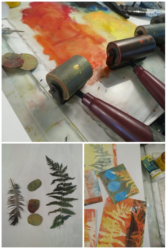 Time and Tools for Making monotypes and printmaking without a press
