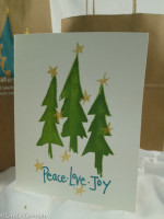 Christmas card - screen printed by hand linda germain
