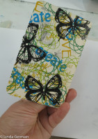 Notebook cover with thermofax screen print kit by linda germain