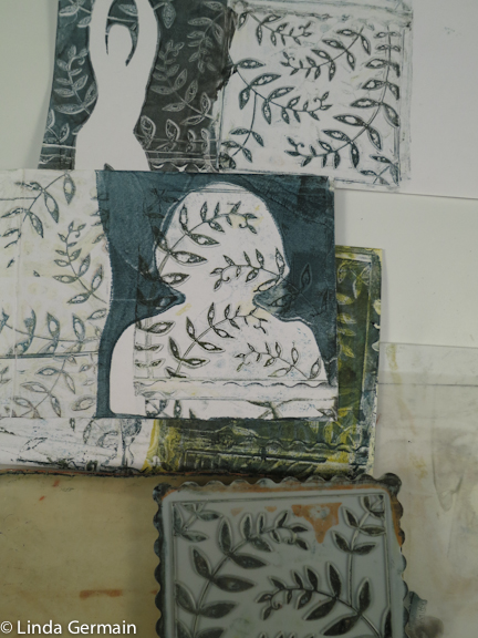 Use commercial Die cut combined with the gelatin plate