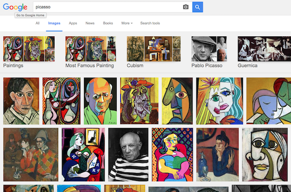 Screen Shot Picasso Google Search