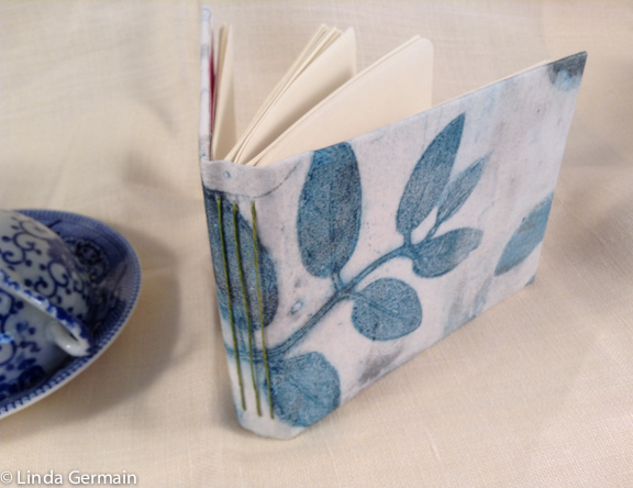 Handmade Art book with a modified long stitch binding Linda Germain