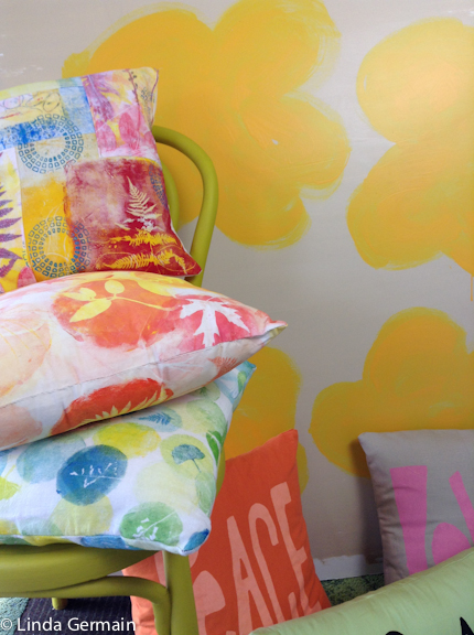 gelatin printed fabric is great for one of a kind sewing projects