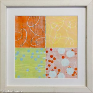 Multiple plate relief print - Linda Germain