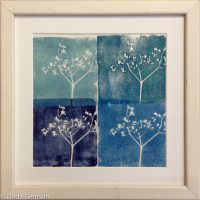 Printmaking without a press and using foam relief plates Linda Germain