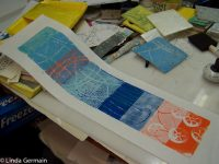 Multi Layered foam relief print - Linda Germain