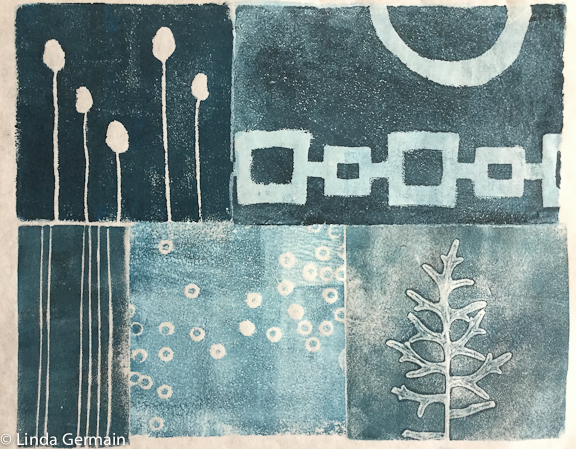 relief print by linda germain