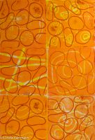 Hand printed fabric with relief plates linda germain