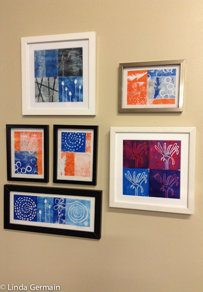 Collection of foam relief prints by Linda Germain