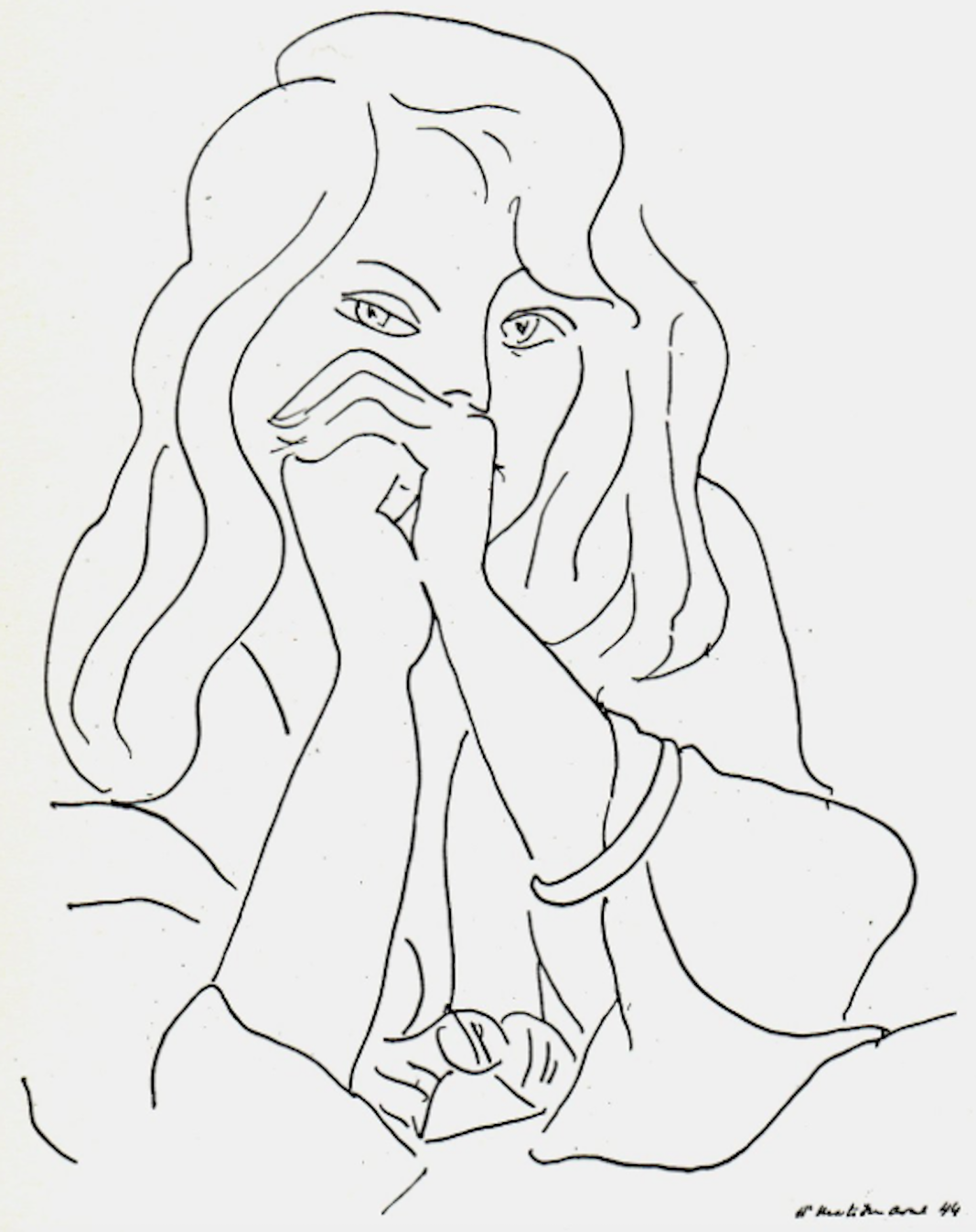 Line Drawing Of Woman : Build confidence in your drawing skills linda germain