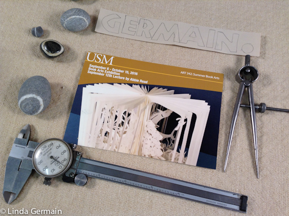Use calipers for measuring for art books