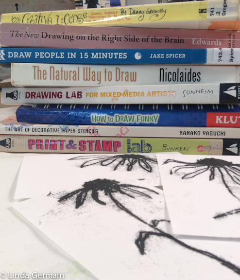 Inspirational drawing books for printmaking