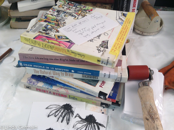 drawing books to inspire printmaking