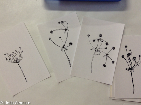 simplified flower drawings by linda germain