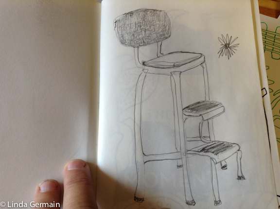 line drawing of a chair - good for trace monoprinting