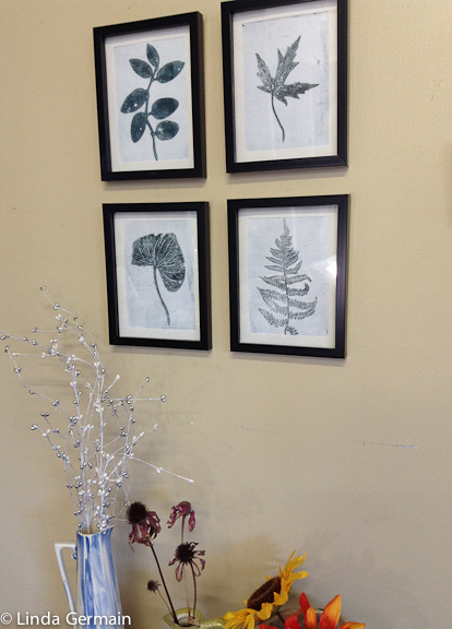 Monotype botanical prints