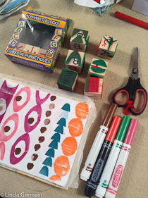 make your own pattern stamps