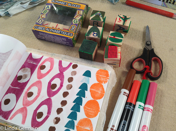 tiny hand made stamps for repeat printing