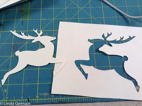 masking stencil and hole stencil for printmaking