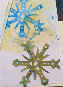 First Snow Inspires Today S Masking Stencil Linda Germain