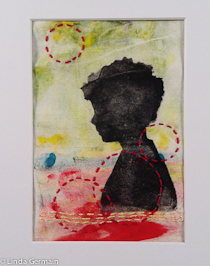 monotype on fabric by linda germain