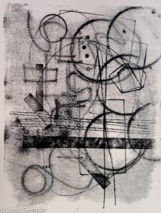 abstract trace monoprint