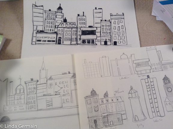 sketches for printmaking
