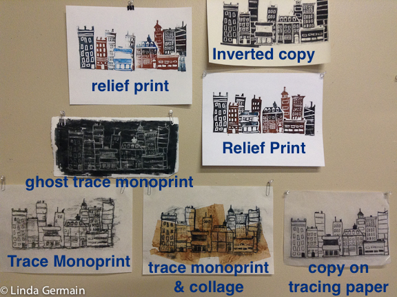types of printmaking from one drawing