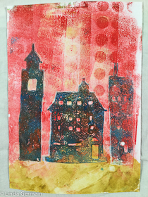 gelatin and glycerin monoprint by linda germain