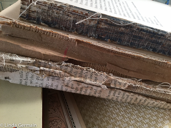 pages of old books as printing surfaces