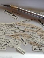 collaged word poems