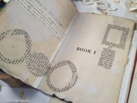Recycled books for art projects