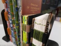 tape binding with old book covers