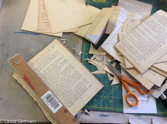 Use old books as art materials