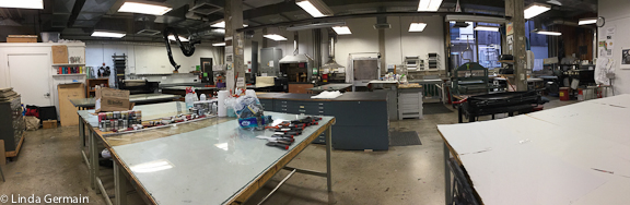 printmaking studio at Bennington College