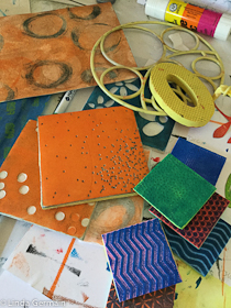mark making tools for soft plate relief printing
