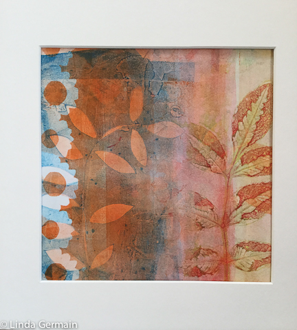cropped gelatin plate monotype print