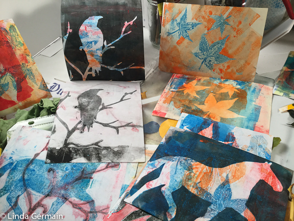 play with gelatin printmaking