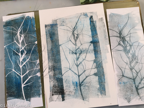 play with paper size when gelatin printing