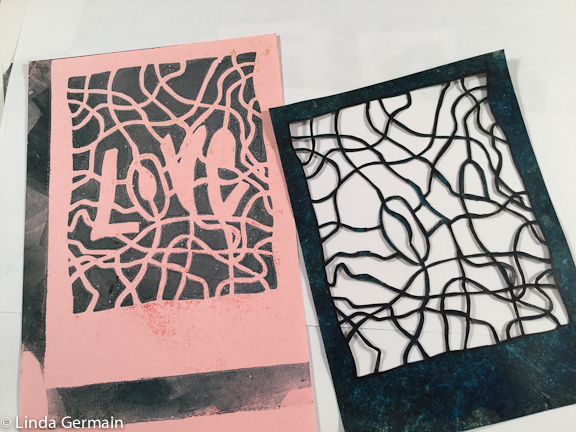 stencil for printmaking