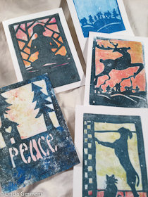 gelatin printed cards for sale at the festival of trees