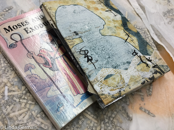 Recycle book into a tiny journal