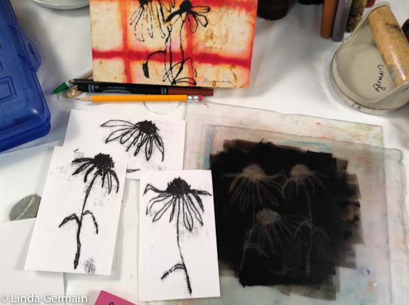 Linda Germain | Trace Monoprints